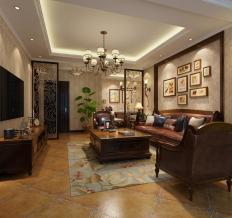滟澜新宸三居室美式设计案例