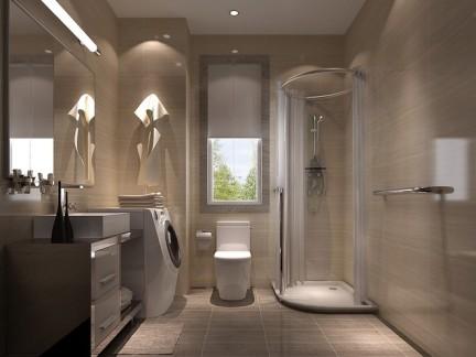 后现代风格三居室卫生间吊顶装修效果图欣赏