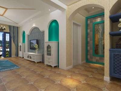 地中海风格-120平米三居室装修样板间