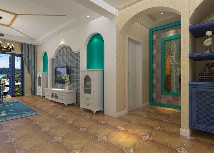 地中海风格-120平米三居室-装修样板间