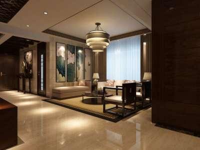 中式古典-128平米三居室装修样板间