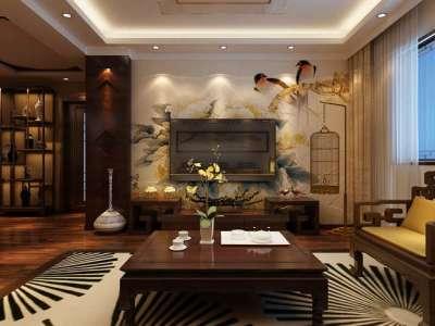 中式古典-115平米三居室装修样板间
