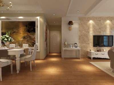 简欧风格-116.07平米三居室装修样板间