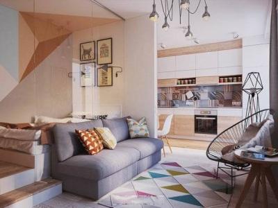现代简约-37.11平米一居室装修样板间