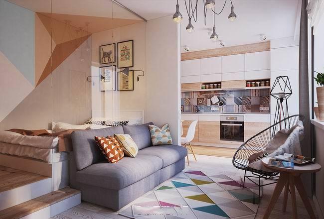 现代简约-37.11平米一居室-装修样板间