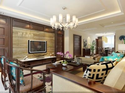 中式风格-140平米三居室装修样板间