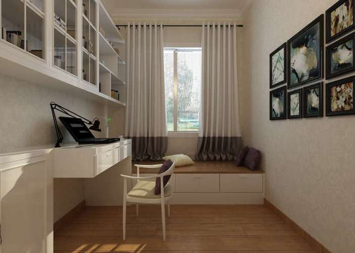 简欧风格-116.07平米三居室-装修样板间
