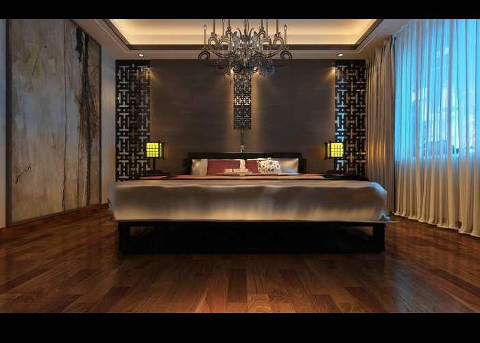 中式古典-180平米四居室-装修样板间