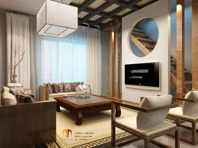 中式古典-128平米四居室装修样板间