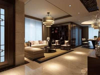 中式风格-100平米二居室装修样板间