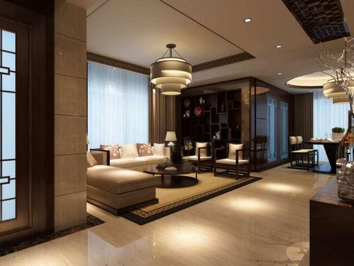 中式古典-128平米三居室-装修样板间