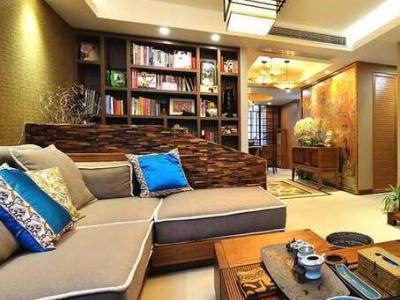 东南亚风格-128平米四居室装修样板间