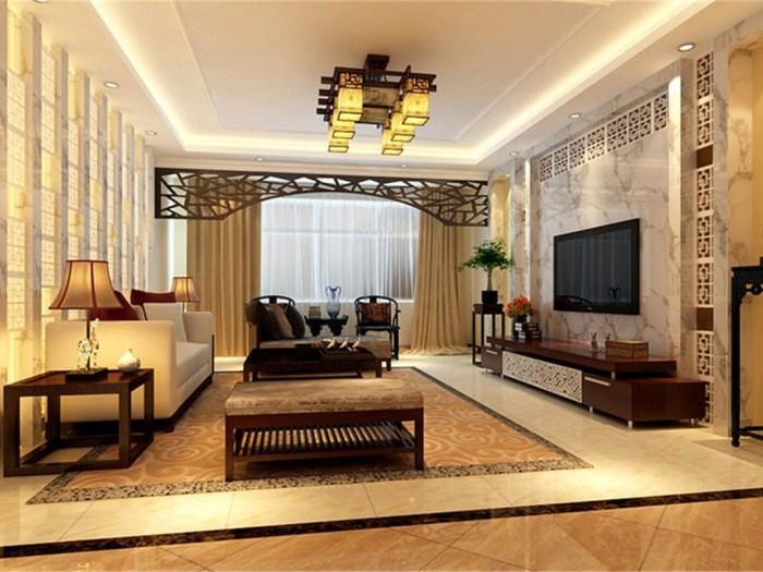 新古典风格-144.42平米三居室-装修样板间