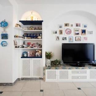 地中海风格一居室客厅装修效果图