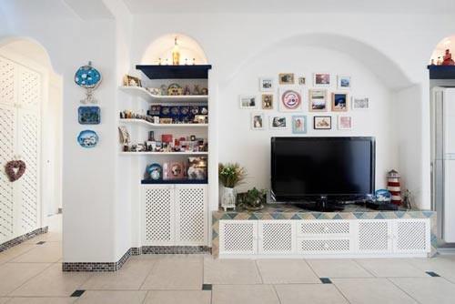 地中海风格-66平米一居室-装修样板间