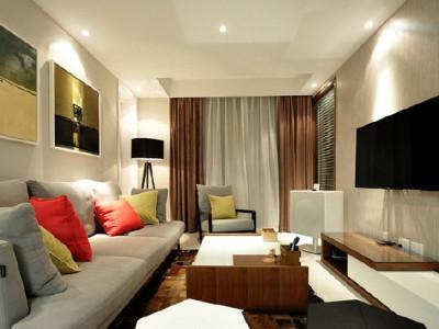 现代简约-82.94平米二居室装修样板间