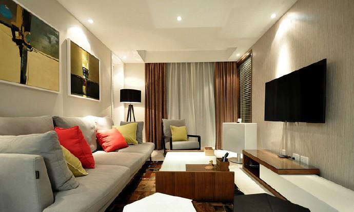 现代简约-82.94平米二居室-装修样板间