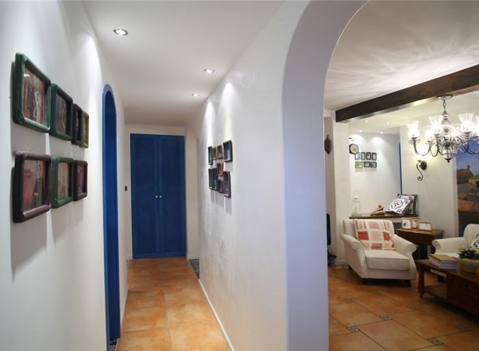 地中海风格-130.38平米三居室-装修样板间