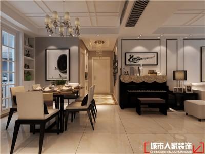 现代风格-117平米三居室装修样板间