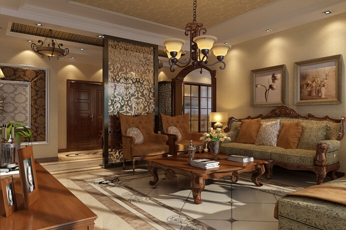 新古典风格-170平米四居室-装修样板间
