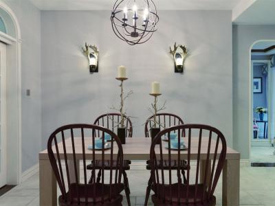 混搭风格-119.3平米三居室装修样板间
