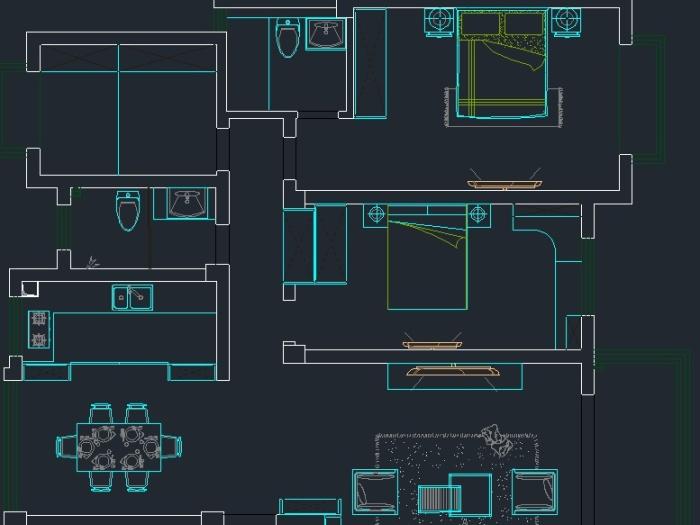 简欧风格-120平米三居室-装修样板间