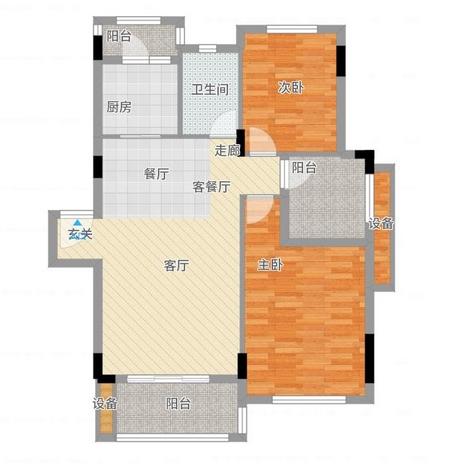 现代简约-94平米三居室-装修样板间
