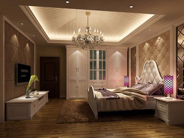 欧式风格卧室衣柜定做,多层夹板(上门量尺)