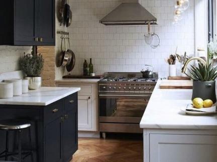 清爽整洁北欧风格小户型厨房装修图片