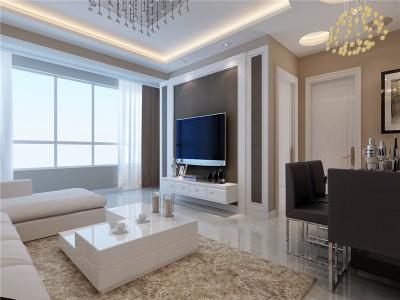 现代简约-86平米二居室装修样板间