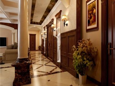简欧风格-320平米五居室装修样板间