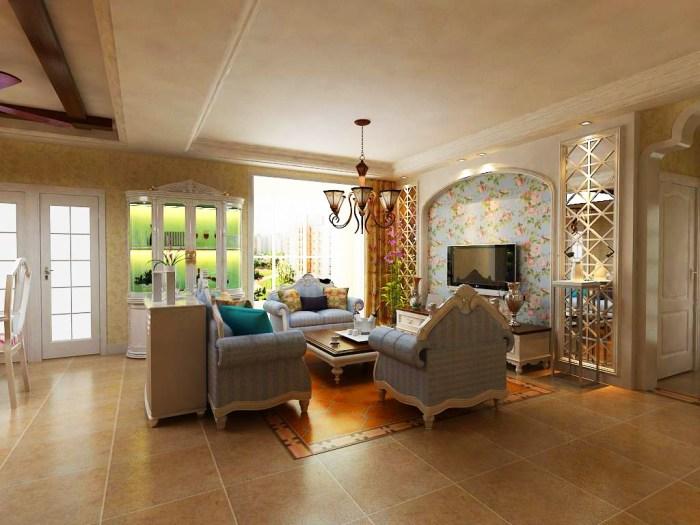 东南亚风格-102平米二居室-装修样板间