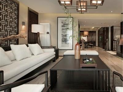 东南亚风格-177.42平米三居室装修样板间