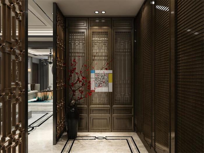 新中式风格-224.43平米五居室-装修样板间