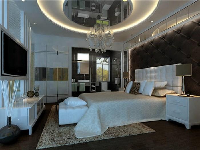 简欧风格-127平米三居室-装修样板间