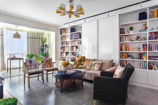 混搭风格-106平米二居室-装修样板间
