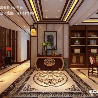 中式风格别墅玄关装修效果图