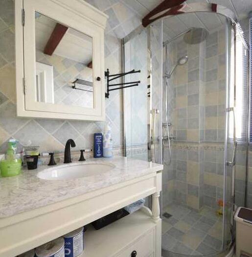 地中海风格-108平米三居室-装修样板间