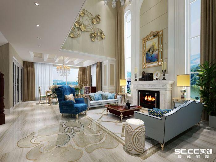 新古典风格-480平米别墅-装修样板间