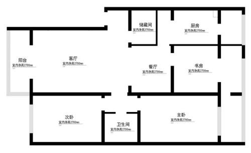 8万90平三居室 时尚典雅的新中式风