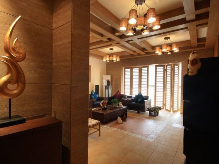 东南亚风格-160平米四居室-装修样板间