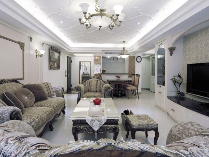 西式古典-71平米二居室-装修样板间