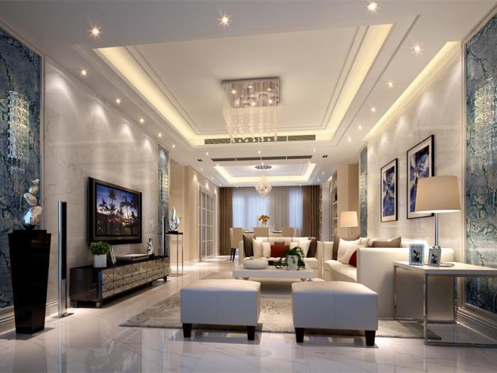 田园风格-193平米四居室-装修样板间