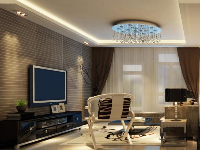 中式风格-90平米三居室-装修样板间