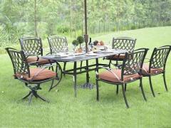 馨宁居花园铸铝桌椅 别墅铸造休闲桌椅 欧式铸铝家具