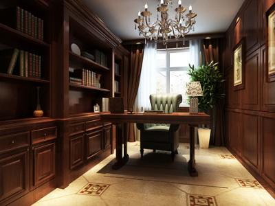 欧美风情-145.44平米三居室装修样板间