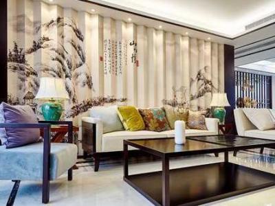 中式风格-180平米四居室装修样板间