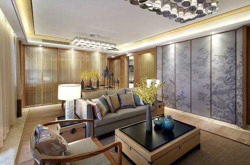 中式风格-0平米三居室-装修样板间