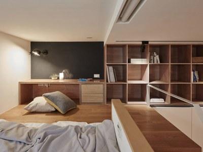 现代简约-30平米一居室装修样板间