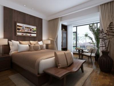 东南亚风格-125平米三居室装修样板间